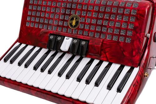 acordeon a piano goldencup rojo 48 bajos 5 registros