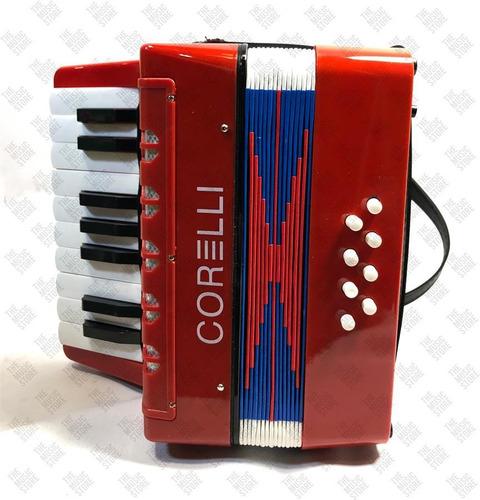 acordeon corelli a piano para niños 17 teclas 8 bajos