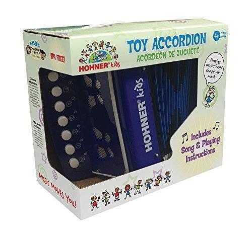acordeón de juguete hohner - azul