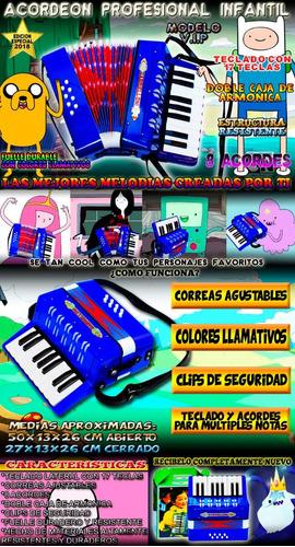 acordeon fabuloso profesional con botones y teclas toca