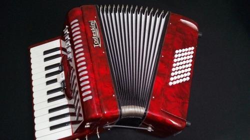 acordeon gaita todeskini 48 baixos com estojo completo