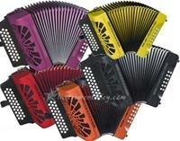 acordeon hohner compadre  varios tonos, varios colores