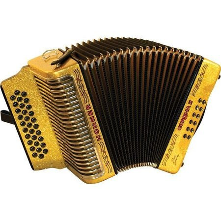 acordeon hohner corona ii flaco jimenez signature, tono gcf