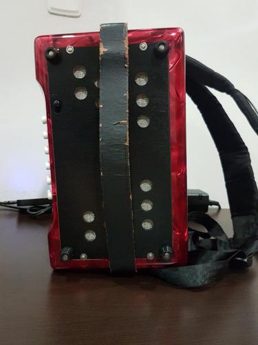acordeon hohner corona iii gcf original - rojo perla