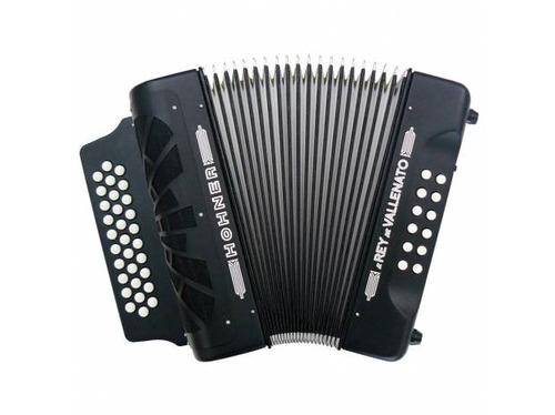 acordeon hohner rey vallenato negro 5 letras y adg nuevos