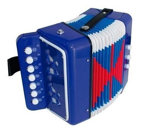 acordeón infantil vallenato niños azul ¡ sonido real !