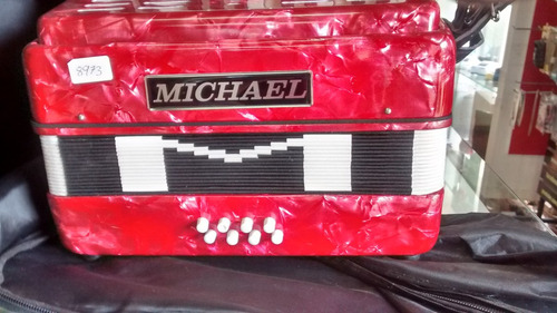 acordeon michael 8 baixos acm0822 disponível cor preta