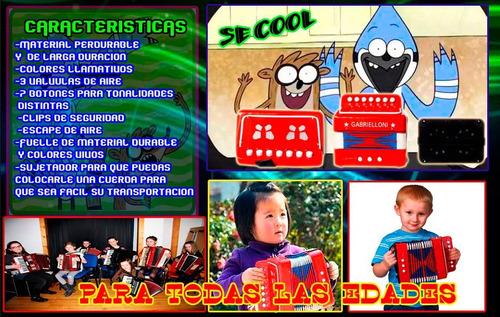 acordeon profesional para niños de 9 botones graves agudos