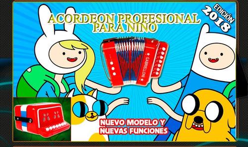 acordeon profesional para niños de 9 botones graves y agudos
