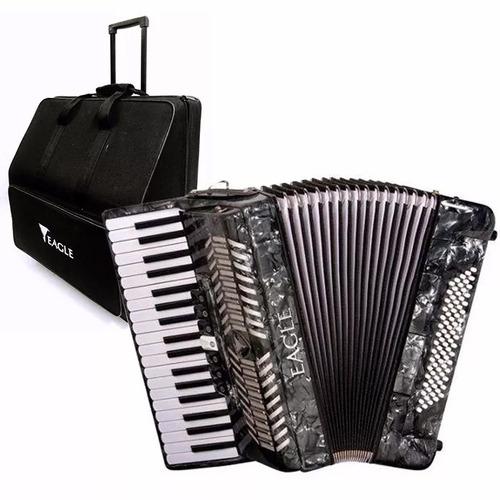 acordeon sanfona gaita eagle 80 baixos ega0780+case