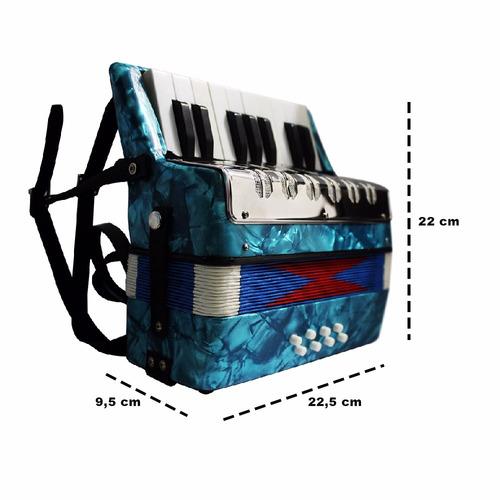 acordeon sanfona gaita infantil 8 baixos 17 teclas