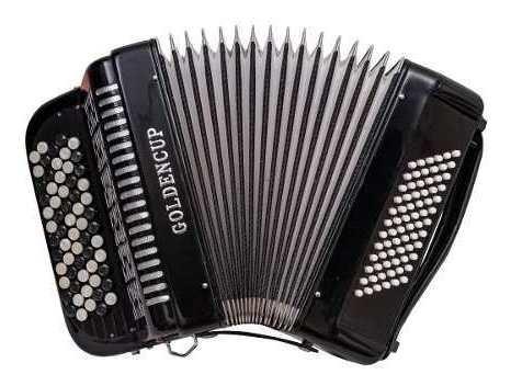 acordeon verdulera golden cup 72 bajos 62 y 37 negro