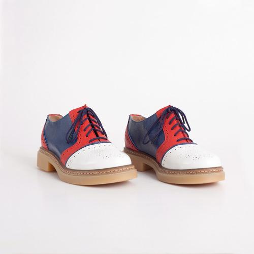 acordonado de cuero. art napoli francia. otro calzado