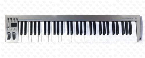 acorn masterkey61 controlador midi - 61 notas- usb - 4 potes