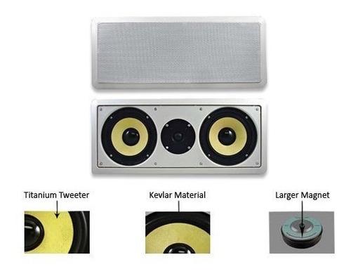 acoustic audio hd-6c dual 6.5 pulgadas kevlar center channel