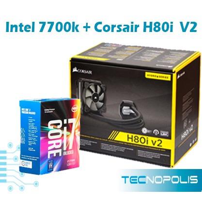 acp-procesador intel 7700k+enfriamiento liquido corsair h80i