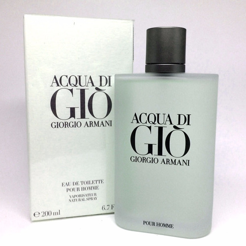 acqua di gio pour homme 200ml masculino | 100% original