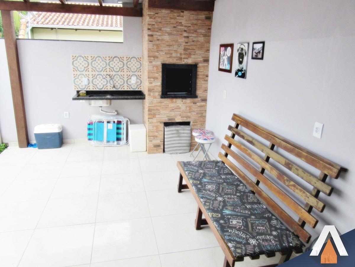 acrc imóveis - casa - passo manso - 02 dormitórios sendo 01 suíte - área de festas com churrasqueira - 01 vaga de garagem coberta - ca01003 - 34051196