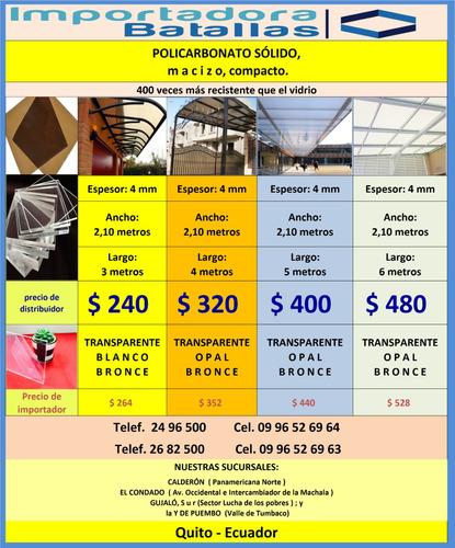 acrilico alucobond policarbonato teja pvc solido techos o