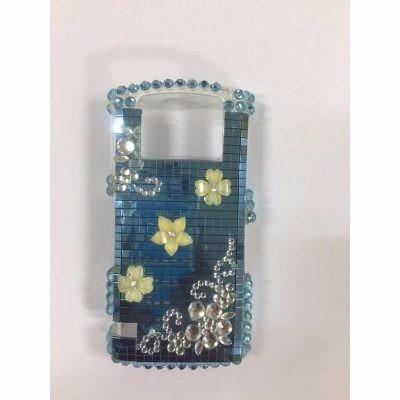 acrilico blackberry 9100 decorado azul c/detalle t/virtual