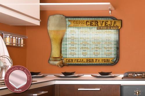 acrílico de parede como pedir uma cerveja - mudo minha casa