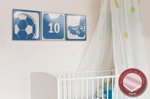 acrílico de parede futebol - azul - mudo minha casa