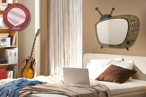 acrílico de parede para escrever tv retro - mudo minha casa