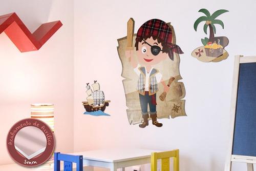 acrílico de parede piratas - mudo minha casa