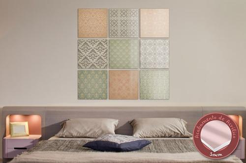 acrílico de parede textura fria - mudo minha casa