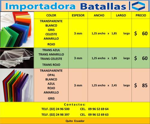 acrilico espesores colores tejas pvc española policarbonat y