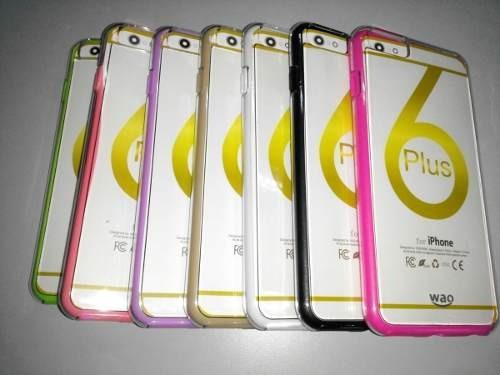 acrilico iphone 6 plus borde transparente t/virtual