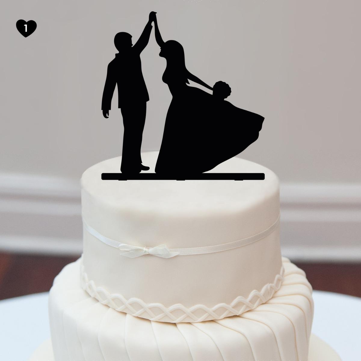df7610fd986 Acrílico Novios Cake Topper Decoración Torta