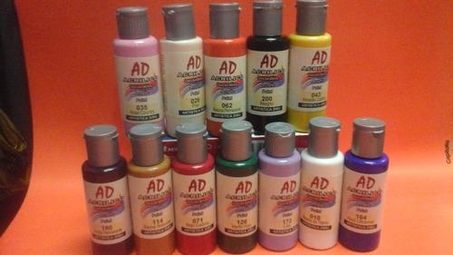 acrilico pintura para decorar lote 12 colores surtidos 60ml