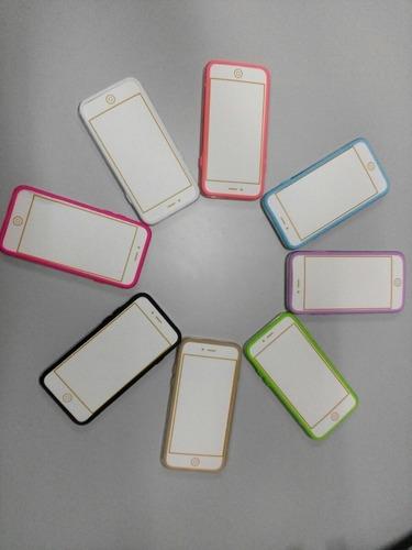 acrilico silicon iphone 6 borde transparente tienda virtual