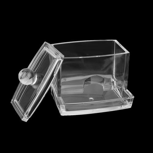 acrílico transparente hisopo de algodón palo organizador d