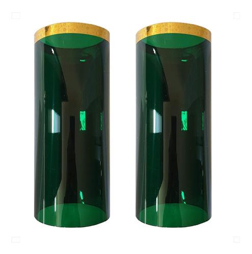 acrílicos o pantallas para cirial color verde