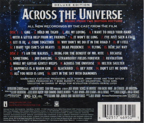 across the universe - soundtrack deluxe - 2 discos cd 's