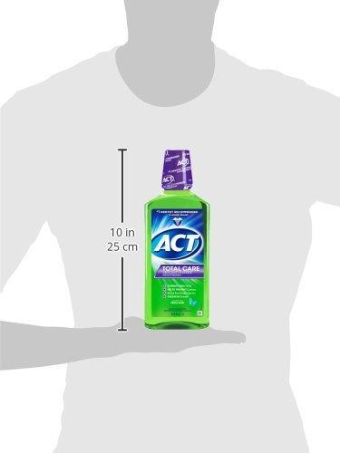 act total care menta fresca de fluoruro anticavida, botella