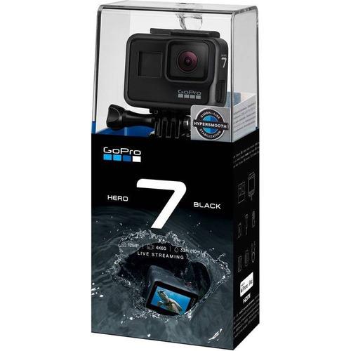 action cam gopro hero 7 black 4k - garantia de 1 ano