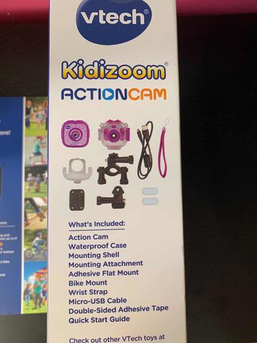 action cam para niña con accesorios, contra agua, vtech
