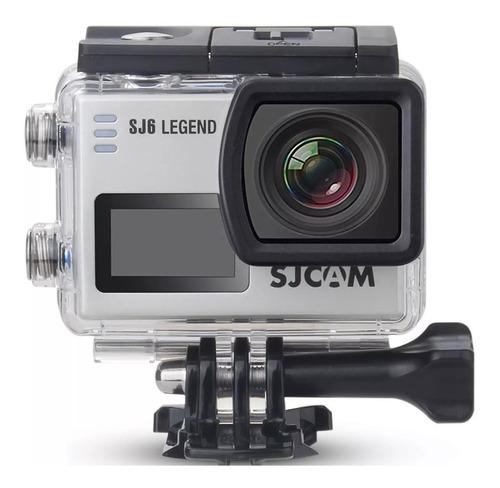 action cam sjcam sj6 legend 4k wifi 16mp + mic. + cartão sd