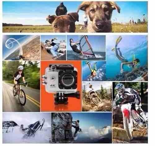 action camera go sport pro wi-fi lcd 4k 1080p prova d'agua