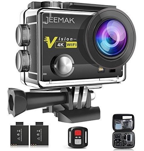 action camera,jeemak 4k sport cam 16mp wifi waterproof camer