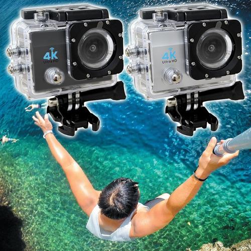 action câmera go sport wi-fi 4k 1080p prova d'água
