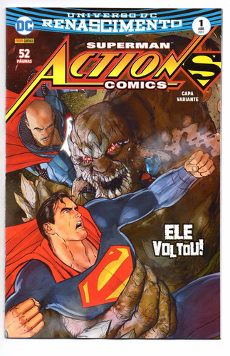 action comics 1 variante - panini 01 - bonellihq cx240 d18