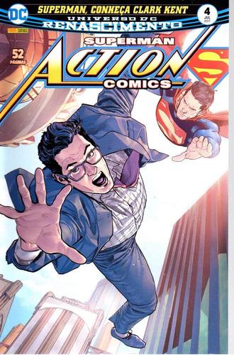 action comics 4 renascimento - panini - bonellihq cx200 c18