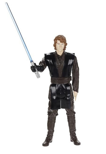 action figure anakin skywalker con sable de luz nuevo hasbro