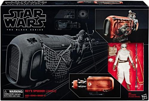action figure boneco star wars the black series rey speeder