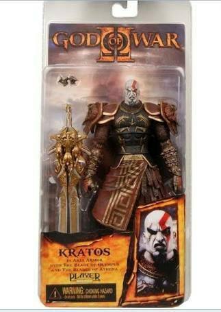 action figure neca god of war - kratos - deus da guerra