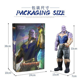 Action Figure Thanos 33cm Guerra Infinita Avengers Detalhado